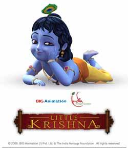 Little Krishna adalah hiburan dari Kepribadian Agung Ketuhanan. Cerita